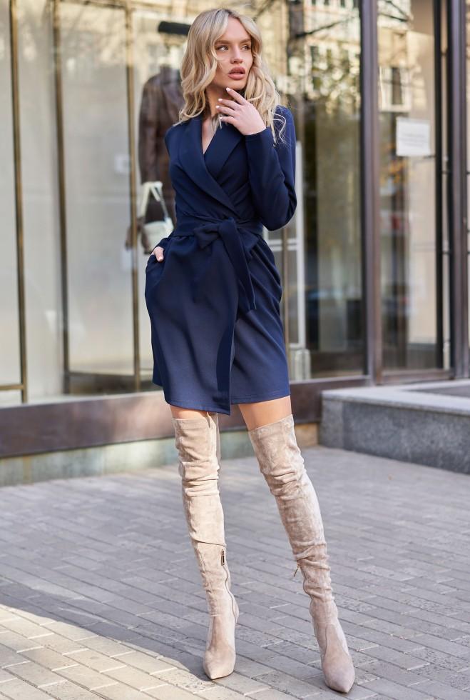 Платье Нисса KPC тёмно-синий