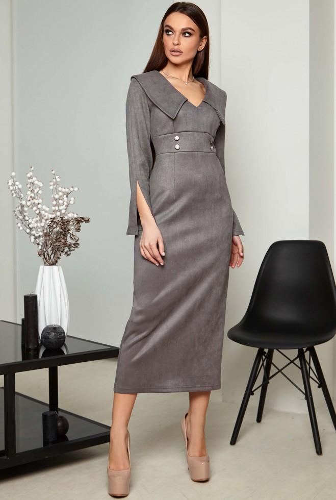 Платье Риана KPC серый